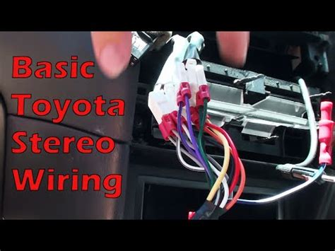 wire   basic toyota stereo youtube