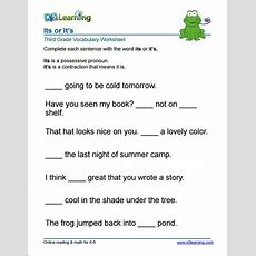 3rd Grade It's Or Its Worksheet  Project1  Vocabulary Worksheets, Geometry Worksheets, Worksheets