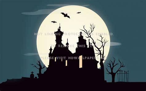 Halloween Moon Full Haunted House Mystic 3d