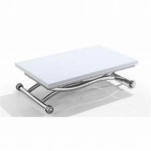 Table Basse Relevable Pas Cher : table basse relevable sur roulette ~ Teatrodelosmanantiales.com Idées de Décoration