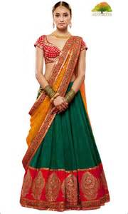 www traditional wedding half sarees 11 stylishly traditional designs