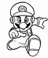Mario Coloring Printable Bros Colouring Themes Ausmalbilder Popular Ausdrucken Kostenlosen Zum Wonder sketch template