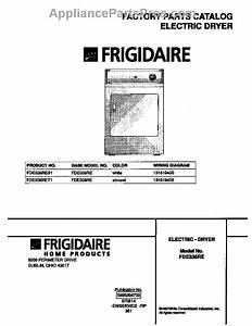 Parts For Frigidaire Fde336res1  Cover Parts