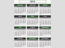Spring 2013 Term Calendar