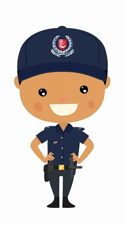 Police Clipart Cartoon Clip Singapore National Force