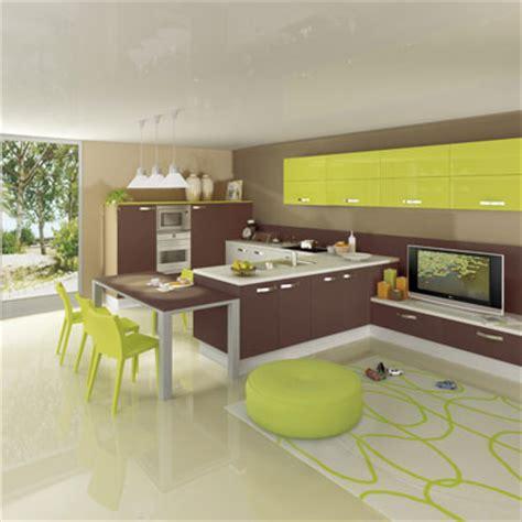 cuisine verte et marron déco cuisine vert marron
