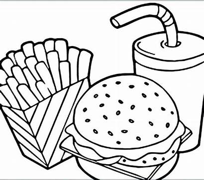 Coloring Pages Pizza Chinese Breakfast Printable Lunch