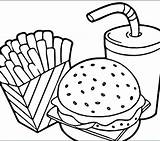 Coloring Pages Pizza Chinese Breakfast Printable Fast Lunch Colouring Getcolorings Hamburger Junk Pyramid Colorin Delicious sketch template