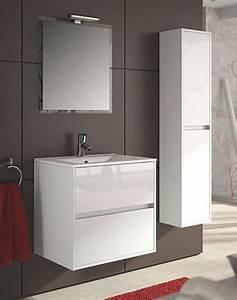 Meuble 60 Cm De Large : meuble salle de bain noja salgar ~ Teatrodelosmanantiales.com Idées de Décoration