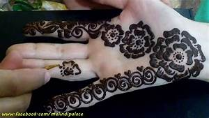 Henna Mehndi design front hand unique Arabic Style by ...