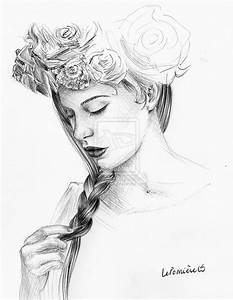 Flower Crown Tumblr Drawing Sketches Sketch Coloring Page