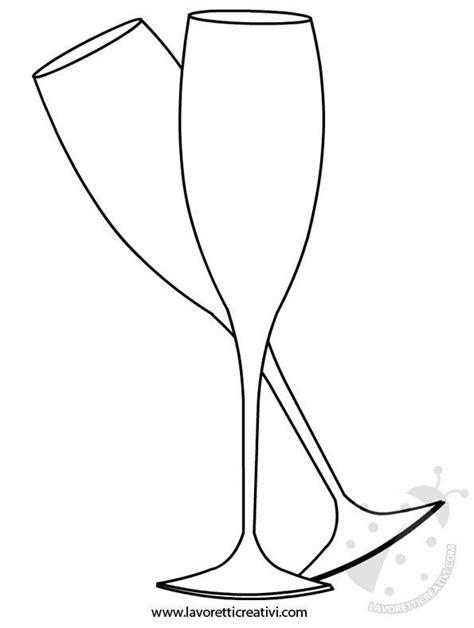disegni di bicchieri sagome di capodanno da stare lavoretti creativi