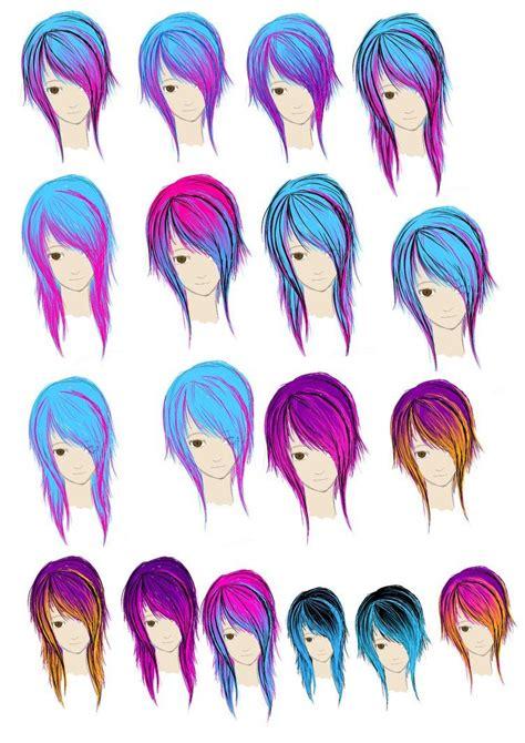 coloring  hair hair makeup nails emo hair color