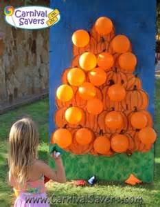 Fall Festival Carnival Game Ideas