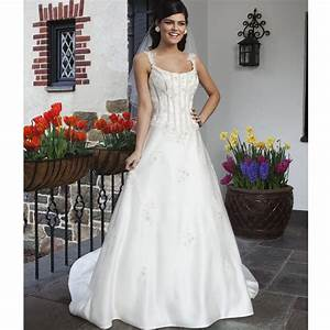 vintage chapel train wedding dresses satin white ivory With td wedding dresses