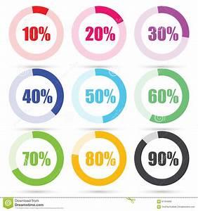 Percentage Diagram Presentation Design Elements  Vector