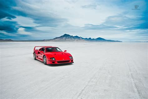 You see, a ferrari f40 isn't like other current exotic cars. Ferrari F40   Bonneville Salt Flats   Much more to come.   Gil Folk   Flickr