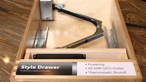 docking drawer power outlets youtube