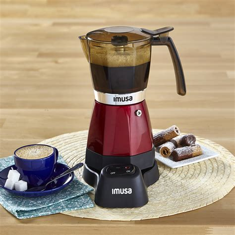 The imusa electric espresso maker, designer for coffee on the go, allow you to. IMUSA IMUSA Electric Moka Maker 3 cup & 6 cup 480 Watts, Red - IMUSA