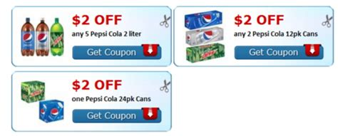 high  pepsi cola printable coupons   print  coupon karma