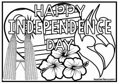 Malaysia Coloring Colouring Sayangi Malaysiaku Independence Merdeka