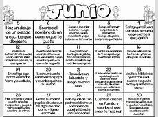 Calendario de actividades del mes de junio Educación
