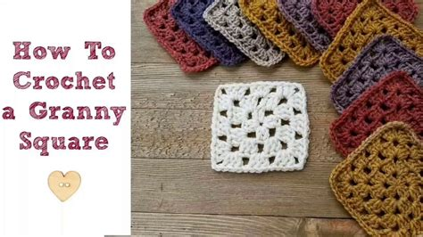 how to crochet square crochet granny square tutorial for beginners dancox for