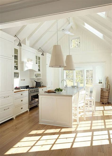 Painting Ideas For Kitchens - vaulted ceilings white or wood thewhitebuffalostylingco com