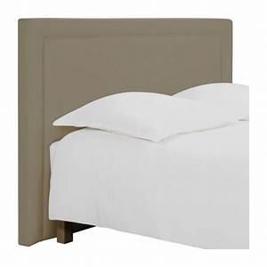 Tissu Pour Tete De Lit : montana t te de lit pour sommier en 160 cm en tissu beige clair habitat ~ Teatrodelosmanantiales.com Idées de Décoration
