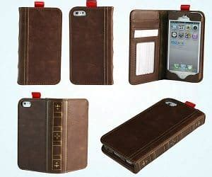 Iphone 4 Bookcase iphone leather bookcase