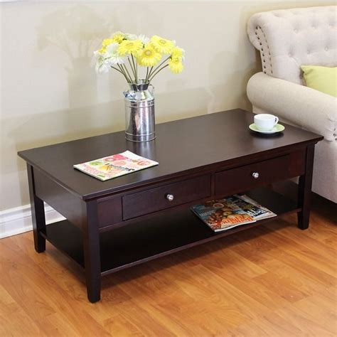 Ferndale Two-drawer Espresso Coffee Table | Coffee table ...