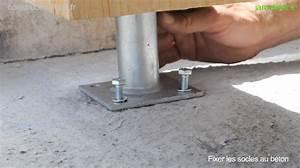 Comment Fixer Un Poteau Bois Au Sol : fixation poteau bois au sol ~ Dailycaller-alerts.com Idées de Décoration