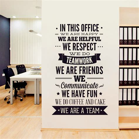 fashion quotes wall sticker office rules vinyl