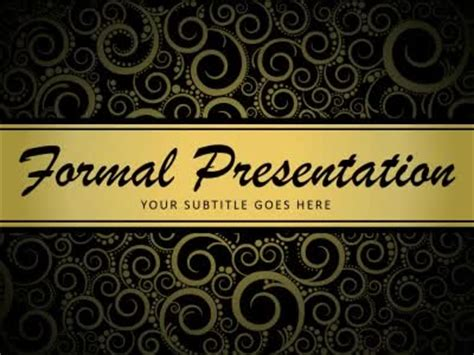 formal   animated powerpoint template