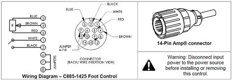 Miller 14 Pin Wiring Diagram by Ssc Remote Foot Pedal For Lorch Tig Welders 14pin