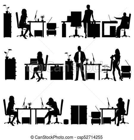 principal039s office clipart black and white in office silhouette illustration in office