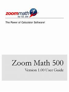 Zoom Math 500 User Guide