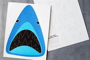 find sharky39s teeth printable shark game all for the boys With shark teeth template