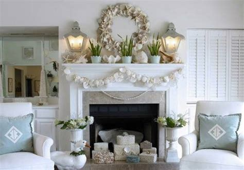 themed fireplace give your home interior cozy looks with coastal decor ideas home design interiors