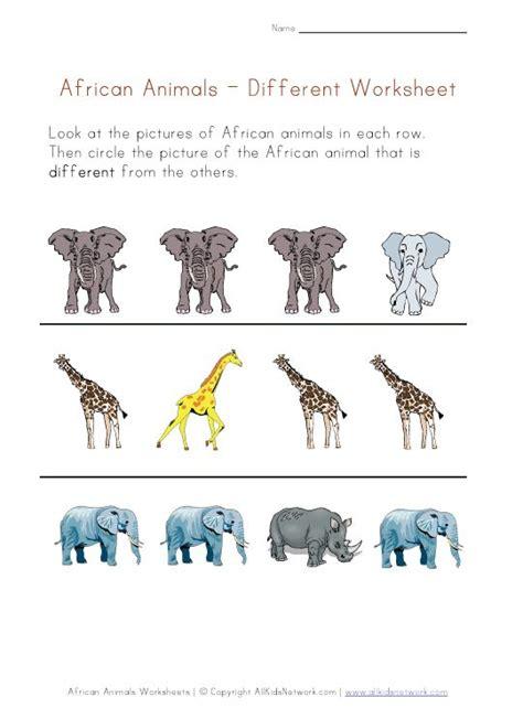 fantastic african animal worksheets esp   ur