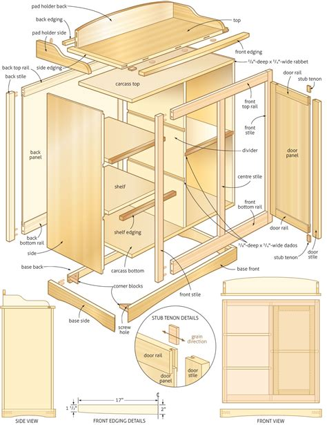 downloadable woodworking plans changing table  woodworking