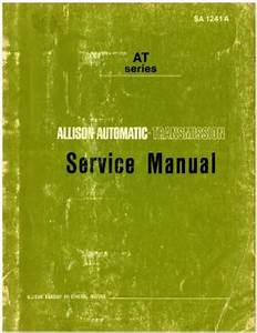 Allison Automatic Transmission At Series 540 Service Manual