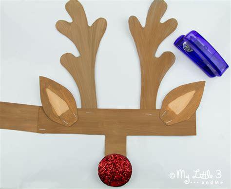 printable reindeer antlers to colour and wear kids