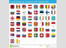 National flags of Europe stock illustration Illustration