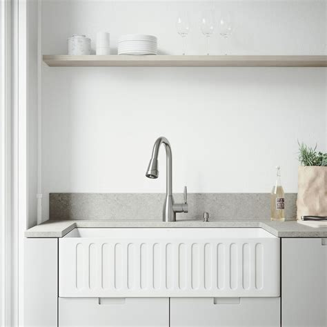 vigo matte stone farmhouse kitchen sink vigo all in one farmhouse matte stone 36 in single bowl