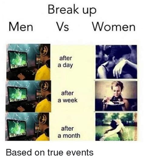 Men And Women Memes - break up memes men vs women weneedfun
