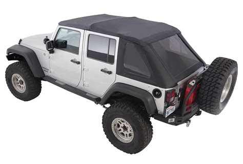 jeep wrangler unlimited soft top smittybilt 9083235k complete bowless combo soft top kit