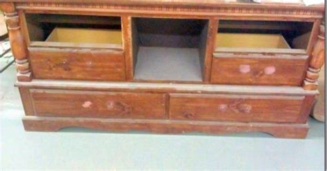 Convert Old Dresser Into Tv Console