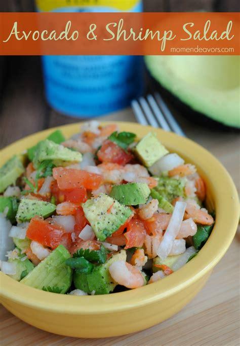 quick healthy recipe avocado shrimp salad