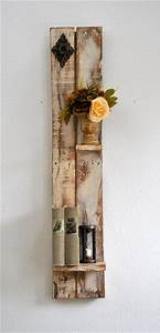 Diy decorative shelf made from pallets wood pallet